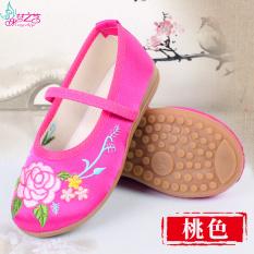 Review Toko Gaya Gaya Oriental Nasional Kecil Anak Gadis Cheongsam Tendon Pada Akhir Sepatu Kain Anak Anak Bordir Sepatu
