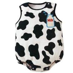 GBB Anak-anak Bayi Bayi Balita Kartun Cotton Sleeveless Segitiga Suitromper Jumpsuit Memanjat Jumpsuit (Sapi Perah Desain)-Intl