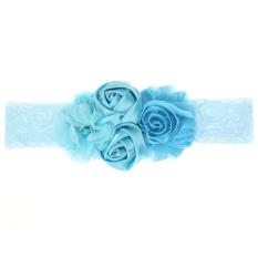 GDS Baby Girls Pearl Flowers Headband (Blue) - intl