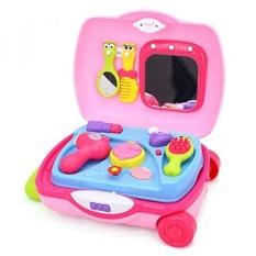 Geefia Makeup Koper Salon Kecantikan Fashion Makeup Vanity Play Set untuk  Anak-anak Berpura- e6ec1a3d65