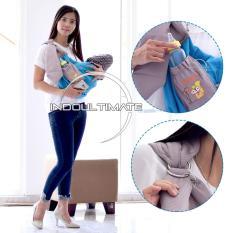 Gendongan Bayi ADJUSTABLE + KANTONG BOTOL + TUTUP KEPALA Cintaka / Selendang Bayi Samping BY-52-GB - BLUE