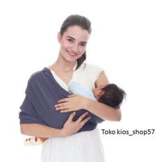 GEOS BianS - Banyak posisi - Gendongan kaos Bayi - Abu tua - Size L