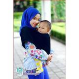 Review Terbaik Geos Gendongan Kaos Bayiku Id 2In1 Instant Baby Wrap M Navy