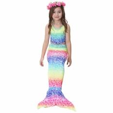 Spesifikasi Getek 2017 Kids Gadis Memikat Mermaid Tail B*k*n* Swimwear Swimming Costume Ukuran 110 Internasional Paling Bagus