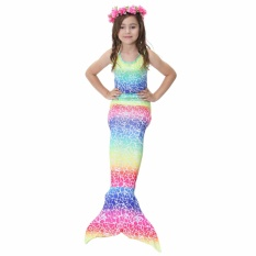 GETEK 2017 KIDS Gadis Memikat Mermaid Tail Bikini Swimwear Swimming Costume Ukuran: 140-Internasional