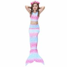 Berapa Harga Getek 2017 Kids Gadis Memikat Mermaid Tail B*k*n* Swimwear Swimming Costume Ukuran 150 Di Tiongkok