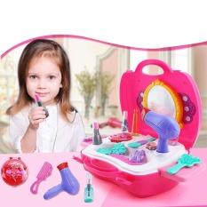 GI Toko Novelty Lucu Mainan Simulasi Tas Kosmetik Makeup Mainan Set Kids Children Cermin Lipstick-Intl