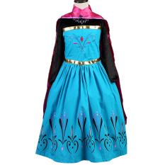 Jual Cewek Anna Kostum Mewah Pakaian Anak Pesta Putri Dengan Gaun Panjang Dan Mahkota Samgami Murah
