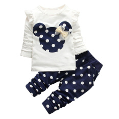 Jual Set Pakaian Anak Cewek Tops T Shirt Legging Celana Biru Laut 100 Cm Satu Set