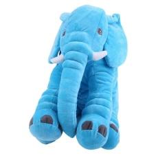 GOOD Stuffed Animal Cushion Kids Baby Sleeping Soft Pillow Toy Cute Elephant Cotton Blue - intl