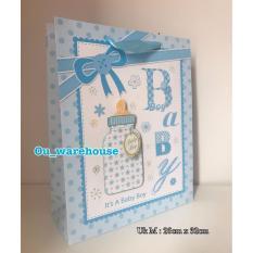goodie bag botol susu boy - baby shower stuff - tas tenteng hbd - plastik snack ultah - hampers bag