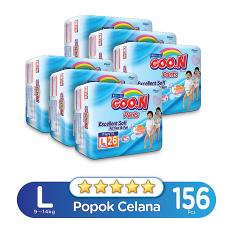Dapatkan Segera Goo N Excelent Soft Premium Pants Jumbo L Isi 26 Karton