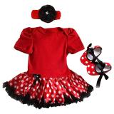 Harga Gracefulvara 3 Pcs Bayi Bayi Yang Baru Lahir Bayi Baju Monyet Tutu Rok Gaun Headband 1 Pair Sepatu Outfits Set Merah Gracefulvara Ori