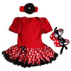 Beli Gracefulvara 3 Pcs Bayi Bayi Yang Baru Lahir Bayi Baju Monyet Tutu Rok Gaun Headband 1 Pair Sepatu Outfits Set Merah Cicilan