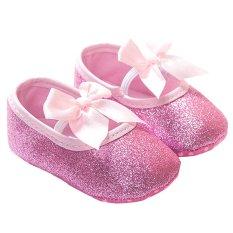 Toko Gracefulvara Gadis Bayi Balita Bayi Sol Lembut Sepatu Anti Slip Kapas Prewalker 18 Bulan Berwarna Merah Muda Murah Di Tiongkok