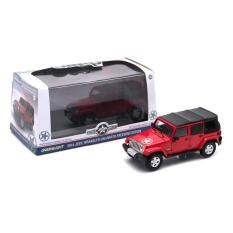 Greenlight 1/43 2014 Jeep Wrangler Unlimited Freedom Edition Red - C9573C - Original Asli