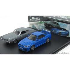 Greenlight 1/43 Fast Furious Twinpack Skyline Gtr & Chevrolet Chevelle - 35Bore