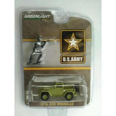 Greenlight 2016 Jeep Wrangler Us Army With Figure - Jyada4
