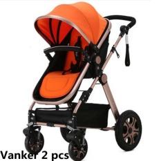 Gx No.1 2X Bisa Dicuci Lembut Mobil Bayi Kereta Dorong Kursi Roda Paddingprampadding Penggaris Pat Bantalan (Oranye)-Internasional