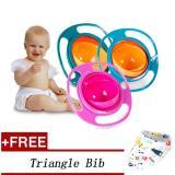 Obral Hadiah Gratis 360 Degree Rotating Makanan Bayi Makan Mangkuk Lucu Toy Universal Anak Anak Spill Proof Feeding Tableware Hijau Intl Murah