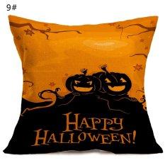Halloween Pola Mobil Bantal Di Sofa Pillow Case Cover-Intl