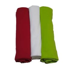 Hanaroo Bedong Bayi Classic Combed 106 cm x106 cm Set D - Merah-Putih-Hijau