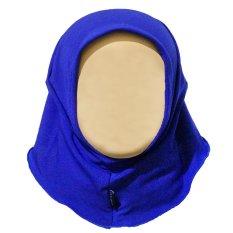 Review Toko Hanaroo Hijab Bayi Anak Polos Bahan Jersey Ba 02 Royal Blue