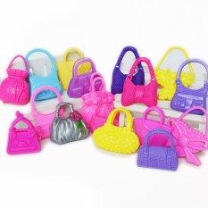 Tas Tangan untuk Gaya Boneka Barbie Acak 10 Pcs-Internasional