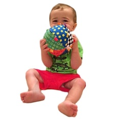 Tangan Grasp Lonceng Kain Bola Mainan Hadiah untuk Anak-anak/BA/Bayi Warna-warni Lembut-Internasional