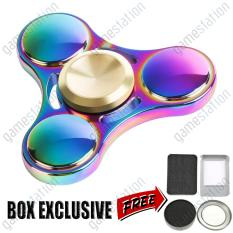 Game Station Hand Spinner High Speed R3 Bearing Titanium Alloy Toys Anxiety Stress Adults Kid Metal finger spinners