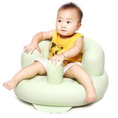 HANG-QIAO Kursi Sofa Tiup Bayi Menebalkan Keamanan Portabel Kursi Mandi (Hijau Muda)