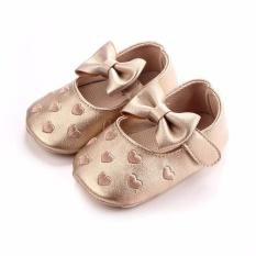 Harga Hanyu Balita Busana Oddler Firstwalkers Children Prewalker Ikatan Simpul Putri Sepatu Walker Crib Sepatu Emas Baru
