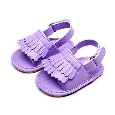 Hanyu Musim Panas Fashion Lovely Rumbai Gaya Bayi Balita Sandal Anak Sepatu Lembut Anti-Slip Sol Karet Pu-Internasional