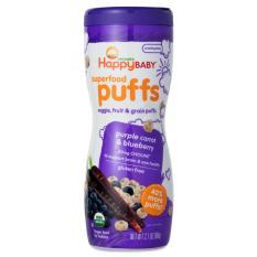 Jual Happy Baby Organics Superfood Puff Purple Carrot Blueberry Biskuit Happy Baby Organik Rasa Wortel Ungu Dan Bluberry Termurah