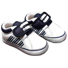 Jual Happy Baby Sepatu Bayi Prewalker Pw 132 Putih Navy Di Indonesia