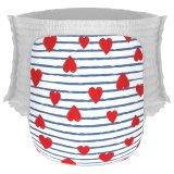 Jual Happy Diapers Pant Popok Bayi Heart And Stripes Size L 26 Pcs Termurah