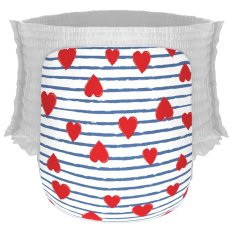 Jual Happy Diapers Pant Popok Bayi Heart And Stripes Size M 30 Pcs Branded Murah