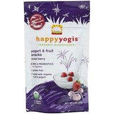 Happy Yogis Organic Yogurt Snacks Mixed Berries 28 Gram Indonesia