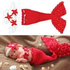 Bayi yang baru lahir bayi rajutan wol Happycat setelan baju Pakaian desain foto Alat Peraga hewan Merah (Merah) (0-9 bulan)