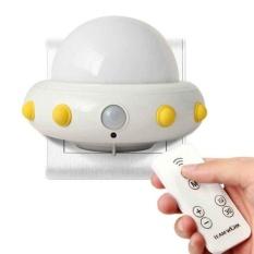 HappyLife Mingjue Anak-anak Cahaya Malam Kecil dengan Timer Plug InWallNight Lampfor Anak-anak. Remote Control untuk 3 Pencahayaan Mode.5Bright Derajat. Waktu 10/30 Min (Putih)-Intl