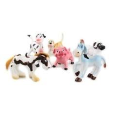 Plastik Keras Pertanian Kartun Tokoh Hewan Set Mainan Anak 6 Pcs-Intl