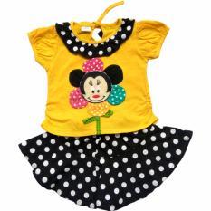 Harpoon Baju Bayi Perempuan Bunga Kuning Polkadot Asli