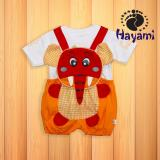 Toko Jual Hayami Baju Kodok Bayi Gajah Kotak Kuning