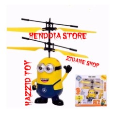 Review Helicopter Drone Minions Sensor Tangan Flying Toys