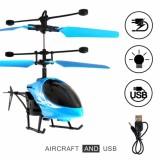 Spesifikasi Helikopter Terbang Drone Mainan Anak Sensor Tangan Biru Mainan Anak