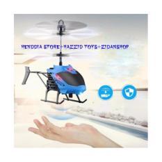Helikopter Terbang Drone Mainan Anak Sensor Tangan Biru Indonesia Diskon