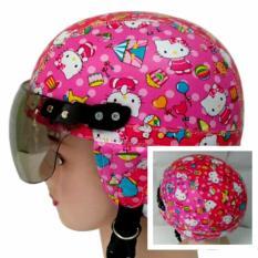 Helm Anak Broco Chip Retro Raca Riben Lucu Usia 1 sampai 5 tahun Motif Hello Kitty Batik - Merah