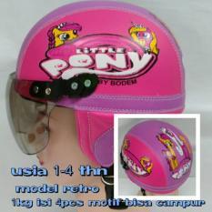 Helm Anak Broco Chip Retro Raca Riben Lucu Usia 1 Sampai 5 Tahun Motif Kudaponi Pink Ungu By Toserba Shop.