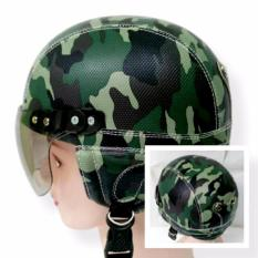 Helm Anak Broco Chip Retro Raca Riben Lucu Usia 1 Sampai 5 Tahun Motif Loreng Army By Toserba Shop.