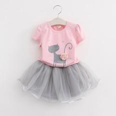 Jual Helomonki Baby G*rl Tutu Dress Cat Pink Grey Online North Sumatra